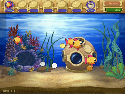 Insaniquarium for Fish tank game