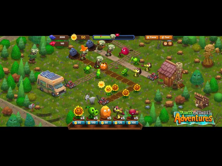 Скачать игру plants vs zombies adventure