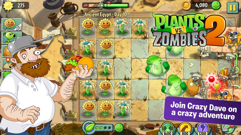 Plants Vs Zombies 2 Android Apple