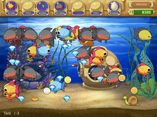 Fish tank games 1 player insaniquarium full fish games for The fish game