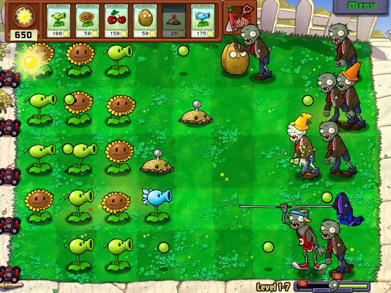 العبة الرائعة plants-vs-zombies